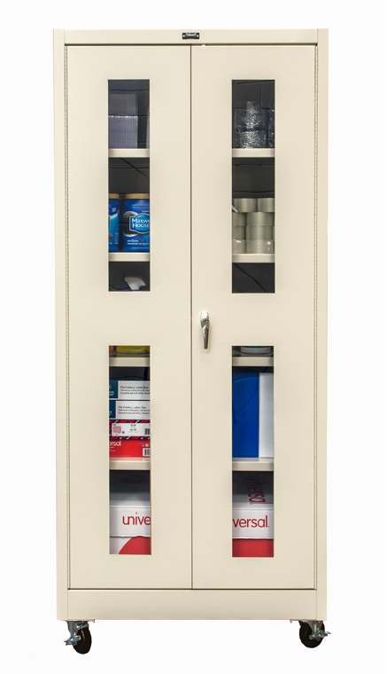 Solid Door Safety View Ventilated Wall Mount Mobile  sc 1 st  Hallowell & 400 Series Commercial Grade KD Cabinets