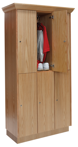 Club Lockers - Wood Wardrobe Lockers