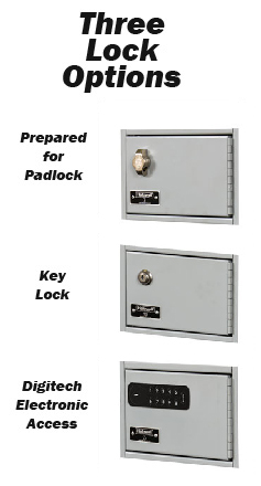 Cell Phone and Tablet Lockers 3 door and lock choices from stock
