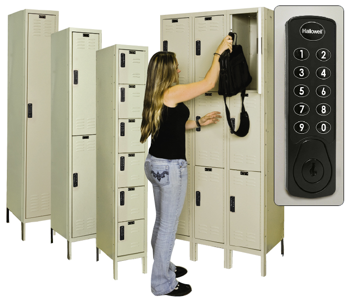 Locker Girl with Digitech Electronic Access Lockers
