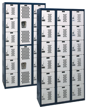 HBLV-06 Ventilated Box Lockers - Hallowell