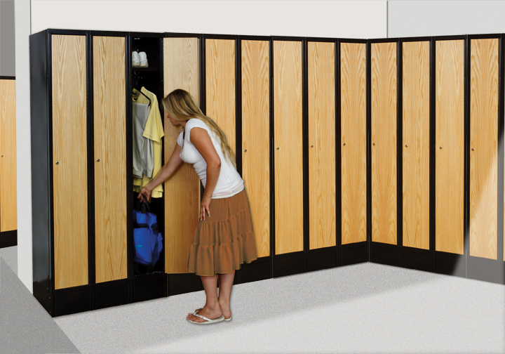 Wood Lockers With Metal Frame Hybrid Lockers Info