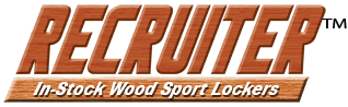 Recruiter Wood Open-Front Sport Lockers
