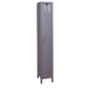 ValueMax Lockers - single tier, 1-wide, color: Hallowell gray