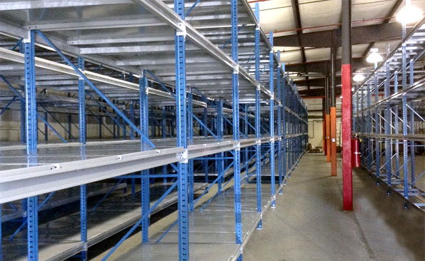 bulk rack shelving installation