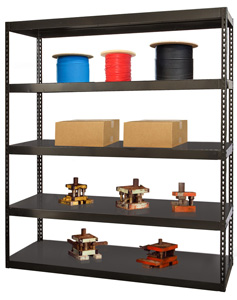 Die Shelving - Black Boltless Shelving