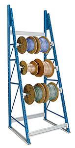 Reel rack with product