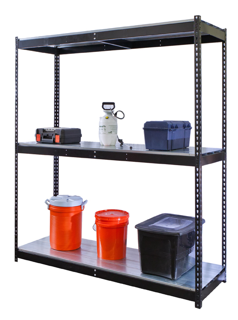 Rivetwell Black Boltless Shelving